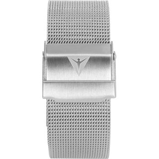 metal wristband silver 20 mm folding buckle milanese
