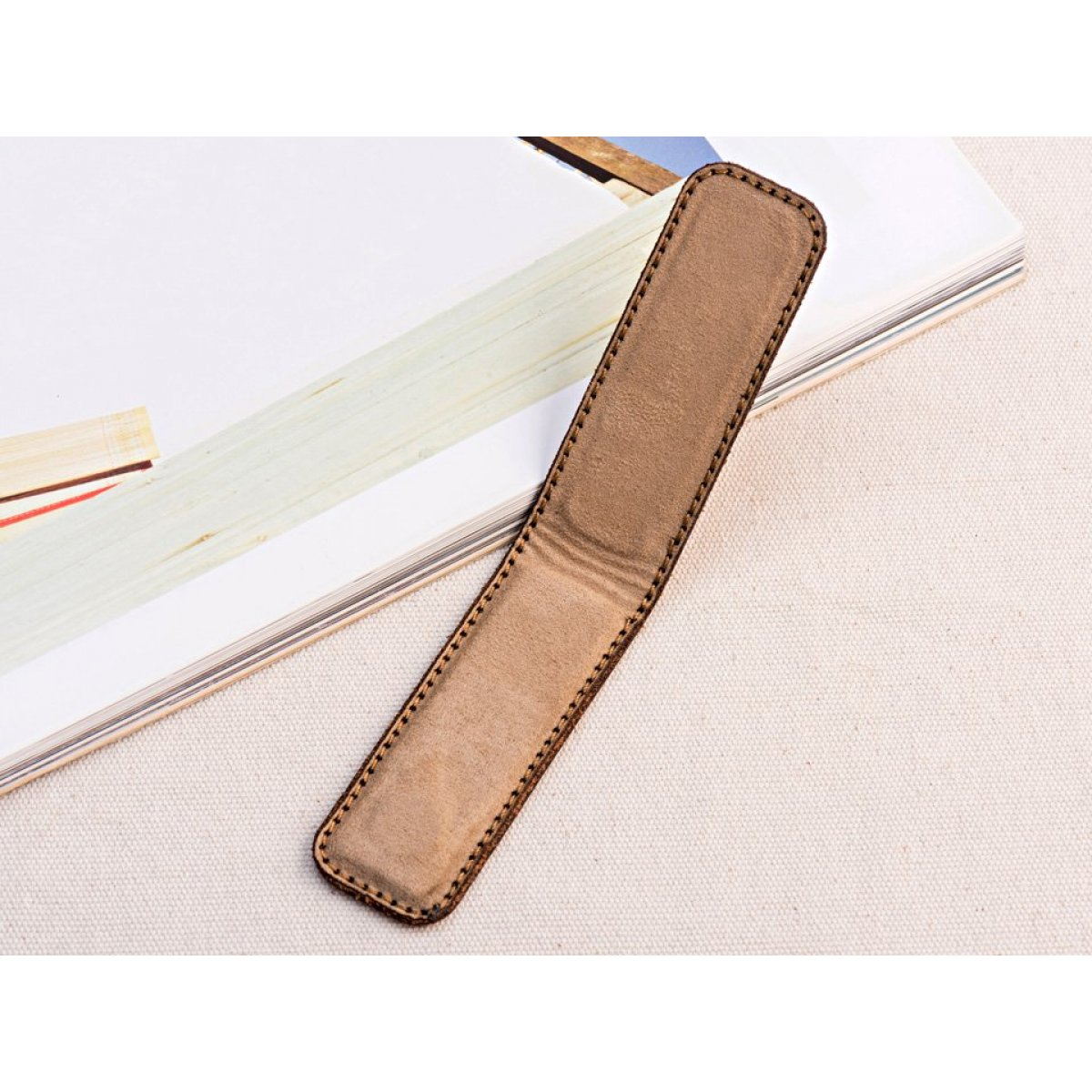 Junkers cash clip leather brown
