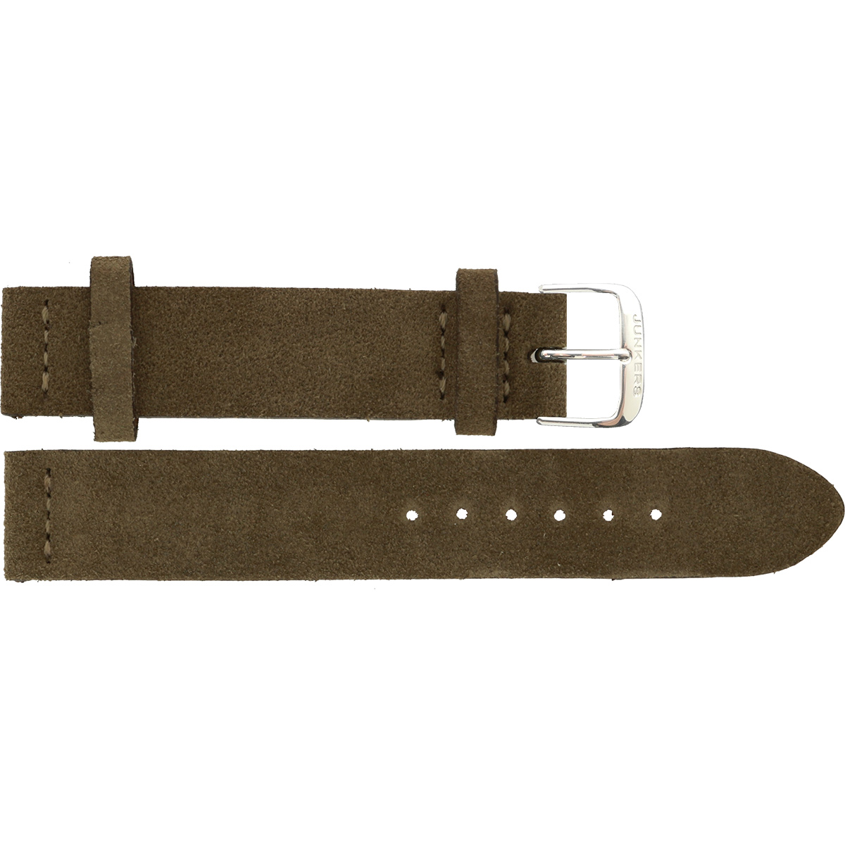 Velour Leather wristband beige 16 mm silver thorn buckle