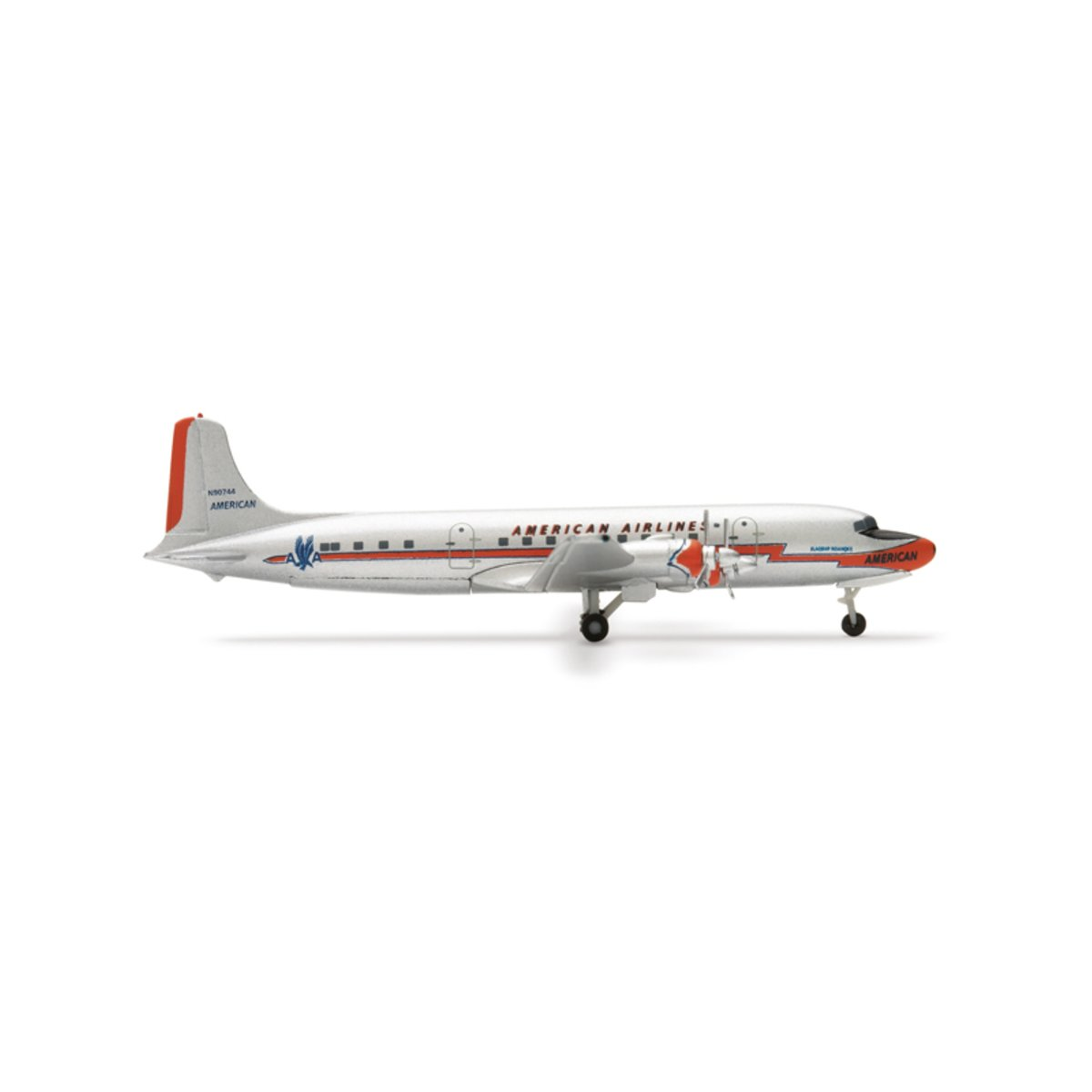 Model Airplane American Airlines® Douglas DC-6 1/500