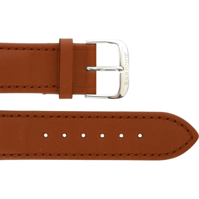 Leather wristband lightbrown 22 mm silver thorn buckle